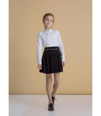 Бархатная юбка для школы