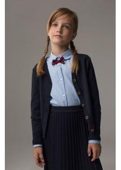 Школьный кардиган с полосой Марсала для девочки