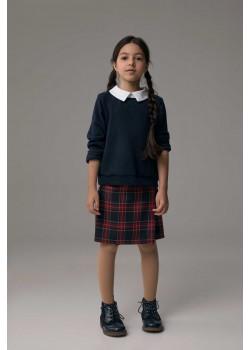 Свитшот с воротником для девочки