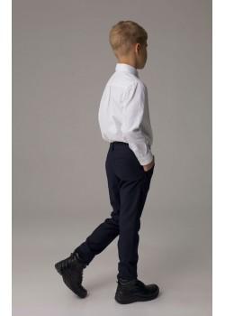 """Школьные брюки для мальчика """"Бейсик"""" с регулируемым поясом"""