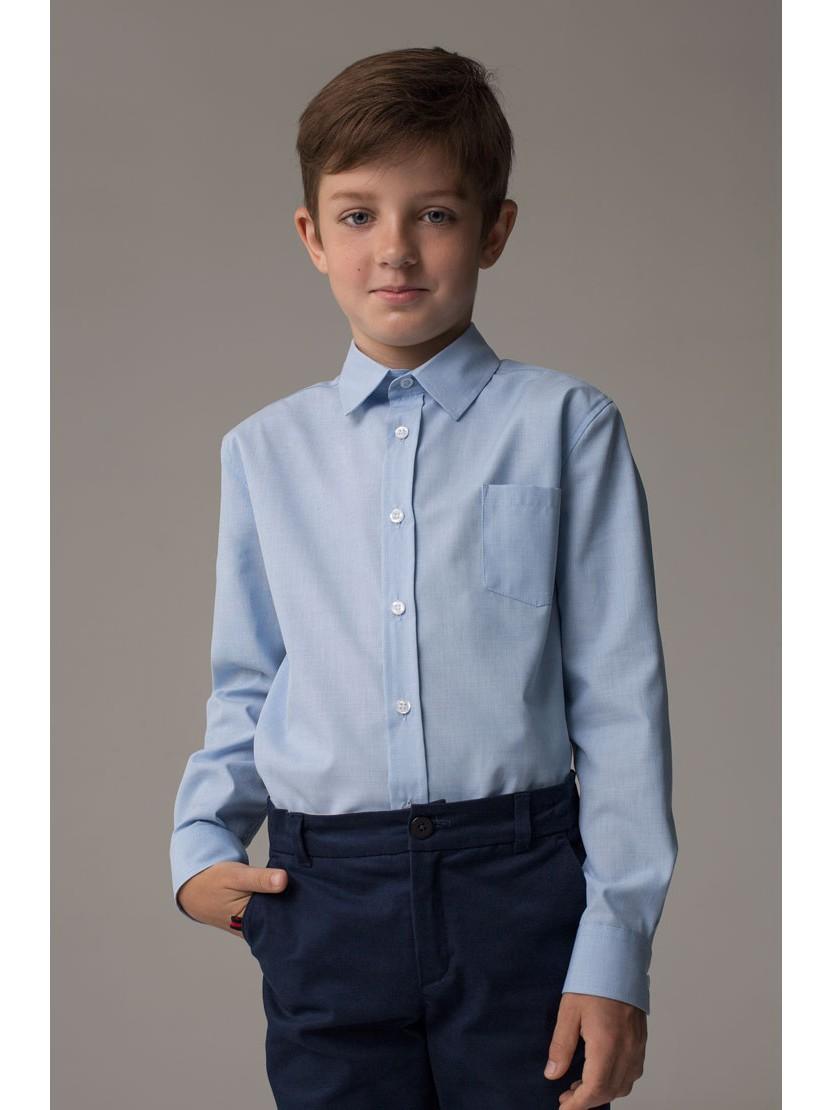 """Рубашка для мальчика голубая """"Скай"""""""